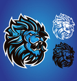 lion blue logo vector image vector image