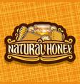 logo for natural honey vector image