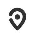 map pin icon black geo location sign vector image
