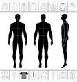 men clothing set vector image vector image
