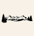 mountains silhouettes mountains mountains of vector image