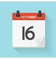 October 17 Calendar Flat Daily Icon vector image vector image