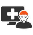 online patient icon vector image