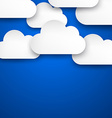 Paper white clouds on blue vector image vector image