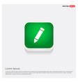 pencil icon green web button vector image