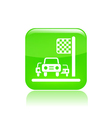race car icon vector image vector image
