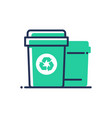recycle bin - modern single line icon vector image vector image