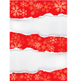 Red grung christmas torn paper background vector image vector image
