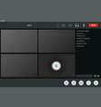 screen template video conference for four vector image