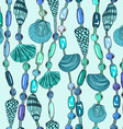 Seamless pattern of seashell jewelry vector image vector image