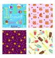 set happy birthday seamless pattern vector image vector image