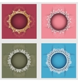 Set of four round frames vector image