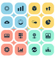 set of simple information vector image