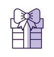 shadow cute purple gift cartoon vector image vector image
