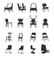 Silhouette-Chairs vector image