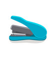 stapler blue color item vector image vector image