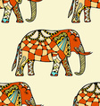 stylized Indian Elephant vector image