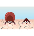 Ticks in pasture vector image