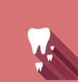 tooths icons vector image vector image