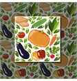 veg pattern vector image vector image