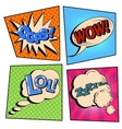 Vintage Pop Art Comic Speech Bubble Set vector image vector image