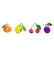 watercolor fruits collection vector image
