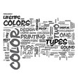 when is too much color too much text word cloud vector image vector image