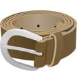women brown belt vector image vector image
