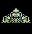 womens tiara crown wedding with green stones vector image vector image