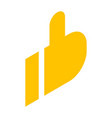yellow thumb up icon isometric style vector image vector image
