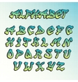 Graffity grunge font alphabet vector image