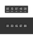 countdown clock timer set vector image