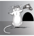 Mouse holding hat vector image