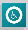 flat cripple icon vector image