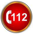 112 red icon vector image vector image