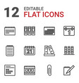 12 binder icons vector image vector image