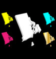 3d map of rhode island vector image vector image