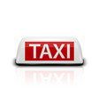 3d realistic white french taxi sign icon vector image