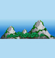 a rock mountain landscape vector image