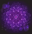 Abstract purple background with a round mandala vector image vector image