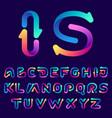 alphabet with arrows vector image vector image