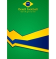 background in Brazilian colors vector image vector image