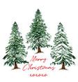 beautiful christmas tree card hand drawn vector image