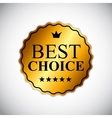 Best Choice Golden Label EPS10 vector image vector image