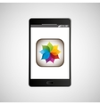 big smartphone black picture icon vector image