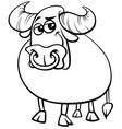 bull farm animal comic character coloring book