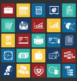 business icons set on color squares background for vector image
