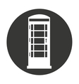 cabine telephone london isolated vector image vector image