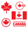 canada day graphics vector image vector image
