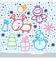 christmas hand drawn design vector image